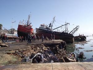 Tsunami à Coquimbo en septembre. Crédit: WCommons