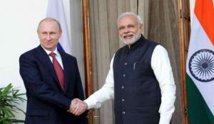 Poutine et Modi s'étaient rencontré en décembre 2014, lors d'une visite du président russe en Inde. - Crédit: Site http://www.temoignages.re/