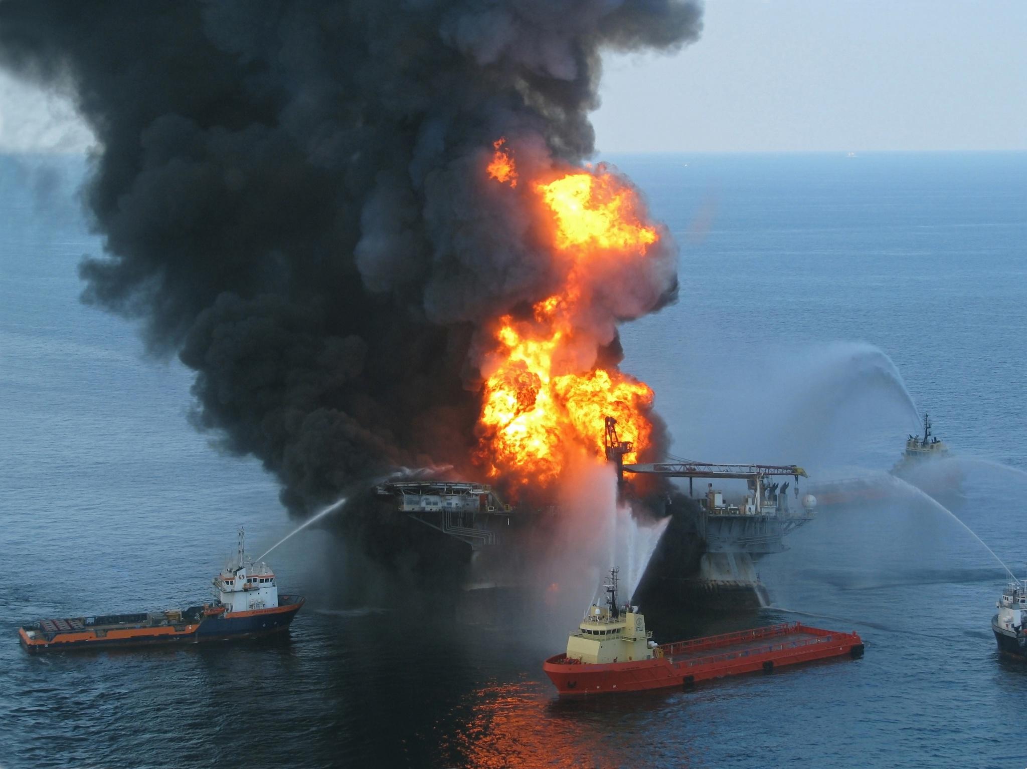 Catastrophe pétrolière BP en 2010. Crédit: WCommons
