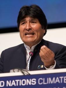 Le président Evo Morales, en décembre 2009. Crédits : Simon Wedege (Creative Commons)