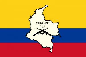 Drapeau des Forces armées révolutionnaires de Colombie  Crédits : MrPenguin20 (Creative Commons)