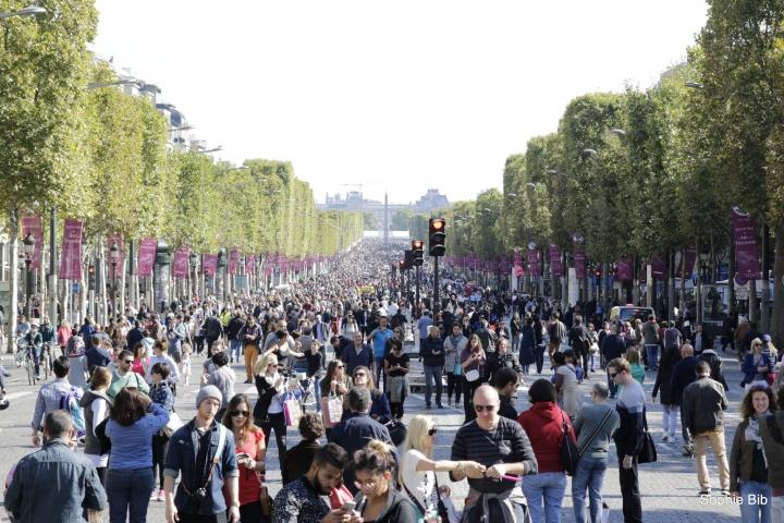 Paris, le 28 octobre dernier, journée sans voitures; - Crédit photo : Sophie Bib / Flickr CC
