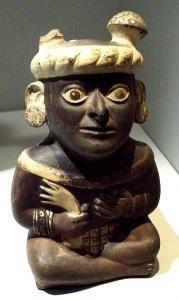 Noble de la culture précolombienne moche. Musée d'Amérique, Madrid.  Crédits : Luis García Zaqarbal (Creative Commons)