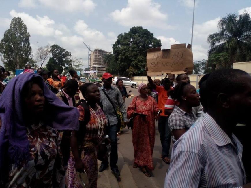 Manifestation à Brazzaville - Crédit photo : dailyblueplanet.com- 28/01/2016