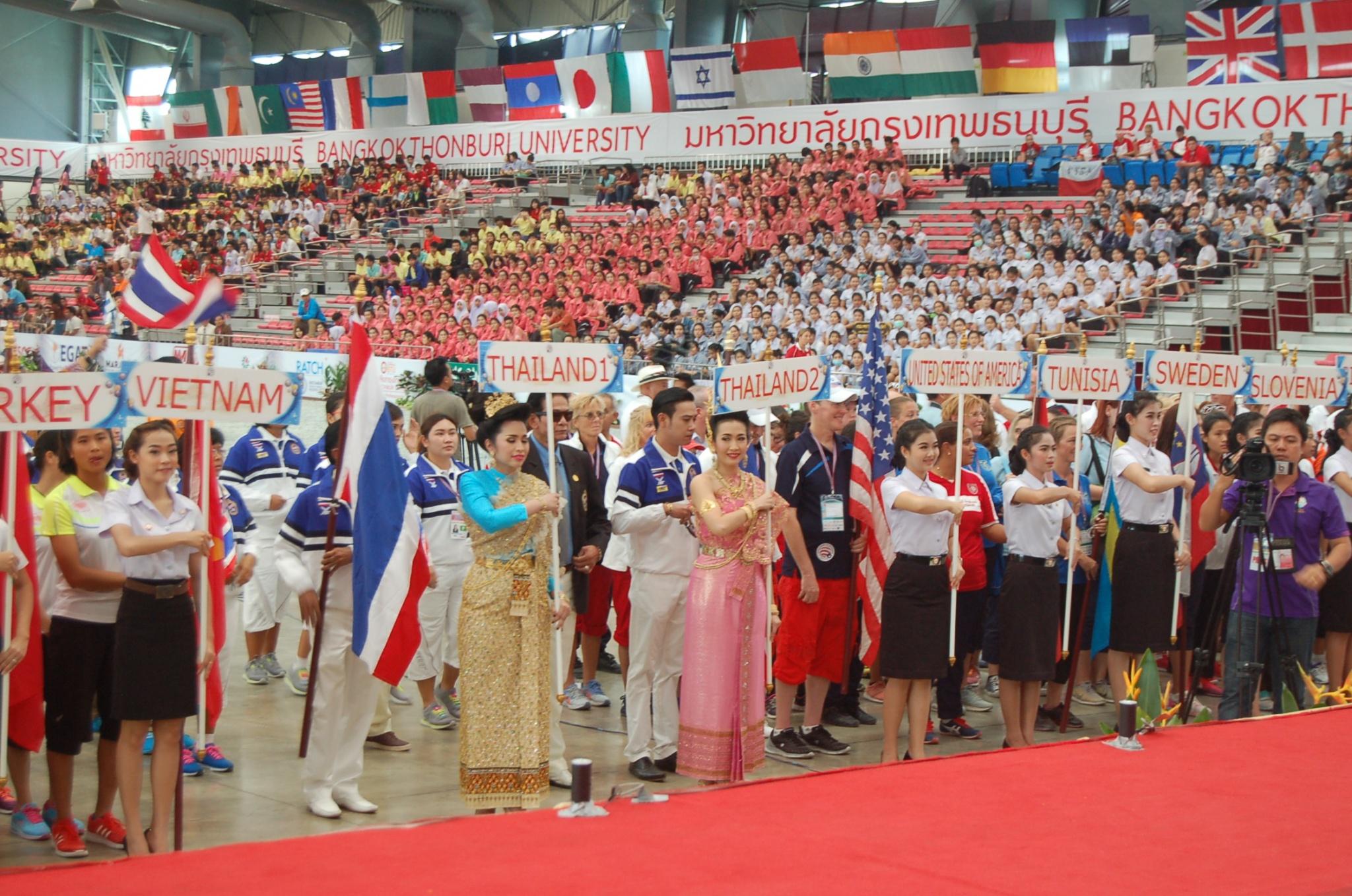 Cérémonie d'ouverture des championnats du monde de pétanque - Crédit photo : Claude Azema