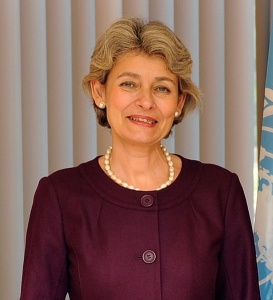 Irina Bokova, directrice générale de l'Unesco (Organisation des Nations unies pour l'éducation, la science et la culture), en octobre 2009 - Crédit photo : UNESCO/Michel Ravassard