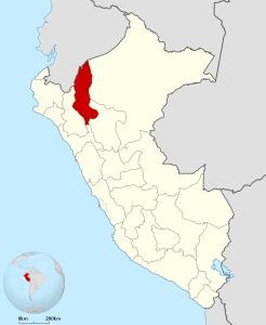 Localisation de la région d'Amazonas, dans le nord du Pérou - Crédit photo : Peru_-_(Template).svg: Huhsunqu (Creative Commons)