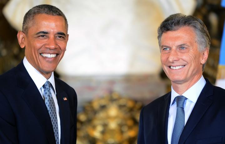 Mauricio Macri en compagnie de Barack Obama, le 23 mars 2016. Crédit photo: Casa Rosada / Wikimedia Commons