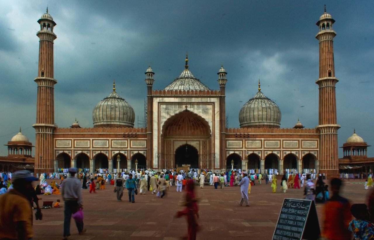 La mosquée de Jama Masjid, Delhi - Crédit photo : Wikimedia Commons