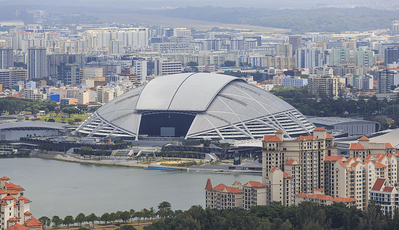 Le Singapore Sports Hub en février 2015 - Crédit photo : Uwe Aranas - Wikimedia Commons