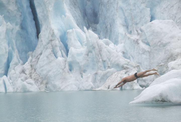 M. Barkai, fondateur de la Fédération internationale de nage en eau glacée - Crédit photo :Ben Bahia