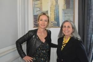 Lucille Desjonquères, présidente du chapitre français de l'International Women's Forum et Teresa Weintraub, présidente Monde de l'IWF – Crédit photo : Stéphanie Petit