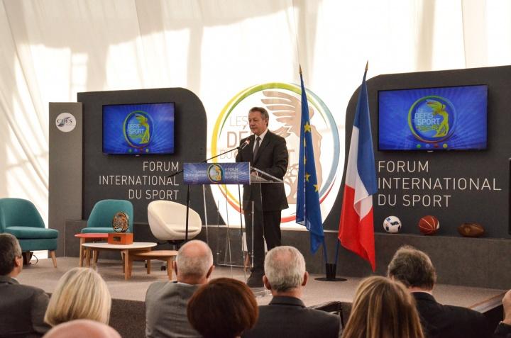 Inauguration du Forum, Thierry Braillard, Secrétaire d'Etat en charge des Sports - Crédit photo : Julie Trosic - CDES