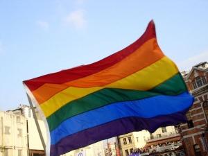 Drapeau symbole de la lutte pour les droits de la communauté LGBT.  Crédits : Theodoranian (Creative Commons)