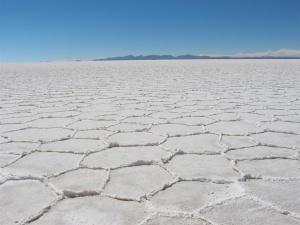 Salar d'Uyuni, en Bolivie. Domaine public