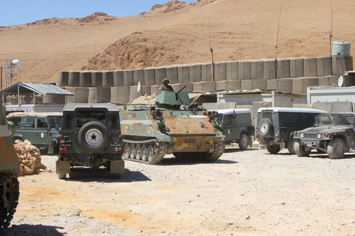 Un M113 libanais vu à Oum Khaled mi-mai 2016 - Crédit photo : Harold Hyman