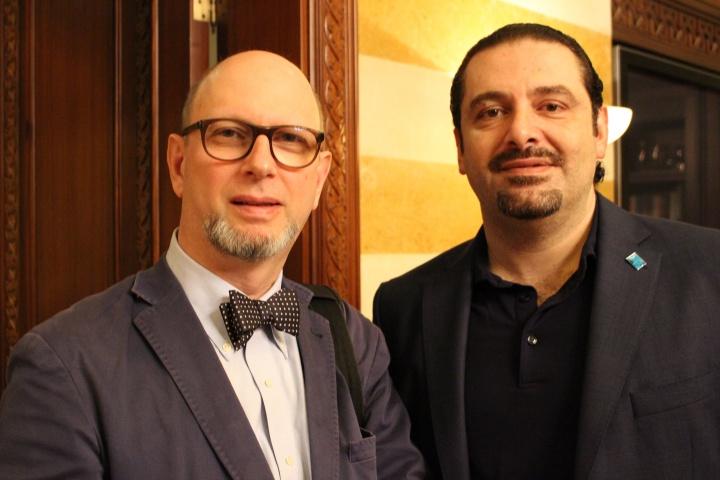 Saad Hariri, ex-Premier ministre avec Harold Hyman