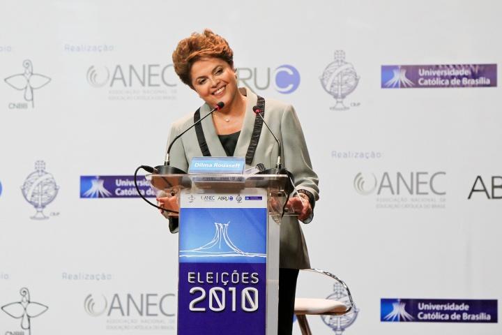 Dilma Roussef lors de la campagne présidentielle de 2010 - Crédit photo : Roberto Stuckert Filho/CC. Flickr