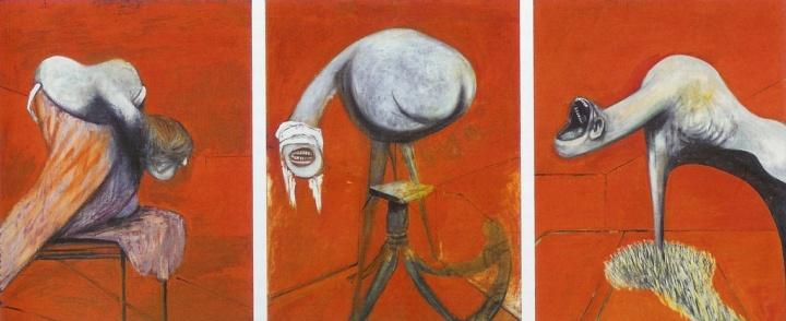 Francis Bacon - Trois études de figures au pied d'une crucifixion (1944)