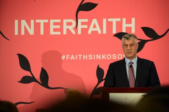 Hashim Thaçi a ouvert la 5e édition de la conférence internationale Interfaith Kosovo - Crédit photo : DR