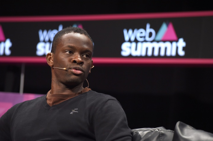 3 November 2015; Louis Saha, Founder, Axis Stars, on the Sport Stage during Day 1 of the 2015 Web Summit in the RDS, Dublin, Ireland. Picture credit: Brendan Moran / SPORTSFILE / Web Summit