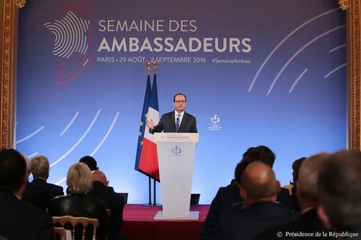 François Hollande face aux ambassadeurs -  © Présidence de la République - J. Bonet