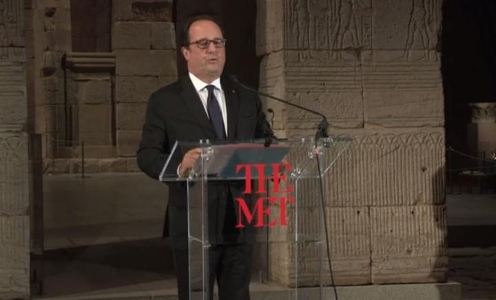 François Hollande au MET