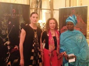 Marie-Agnès Giot, Corinne Evens et Fatimata Mbaye