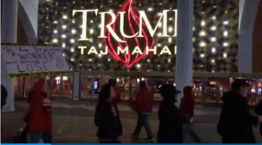 Les employés licenciés du Casino de Trump début novembre 2016