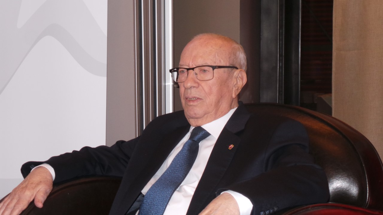 Beji Caïd Essebsi, Président tunisien - Crédit photo : Noé Michalon