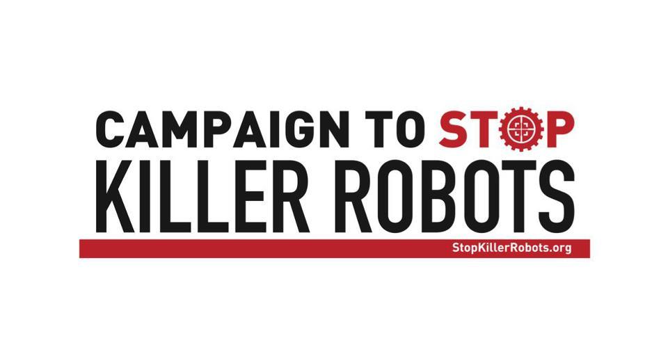 Logo de la campagne de Human Rights Watch contre les robots tueurs.