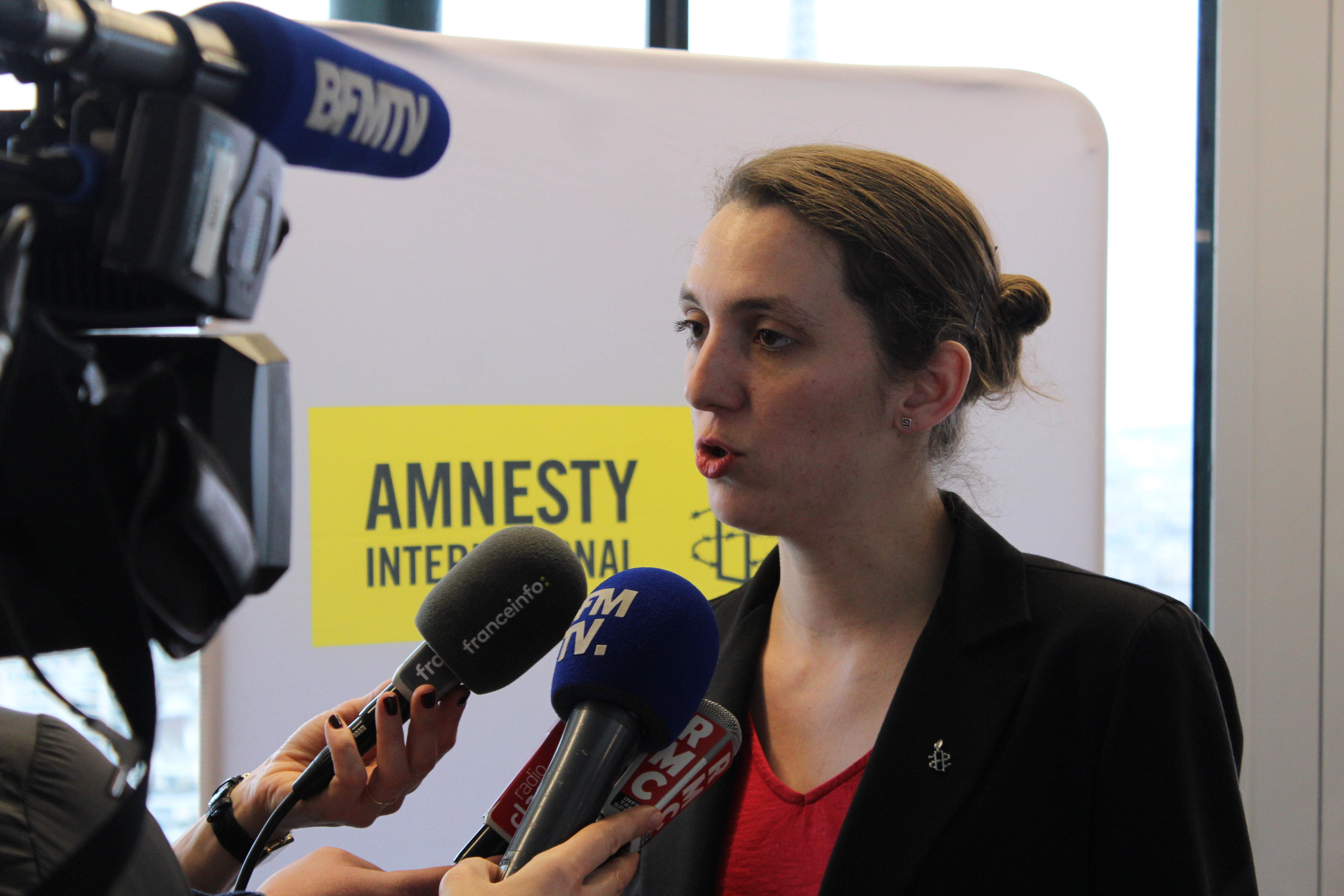 Camille Blanc, présidente de la section France d'Amnesty International