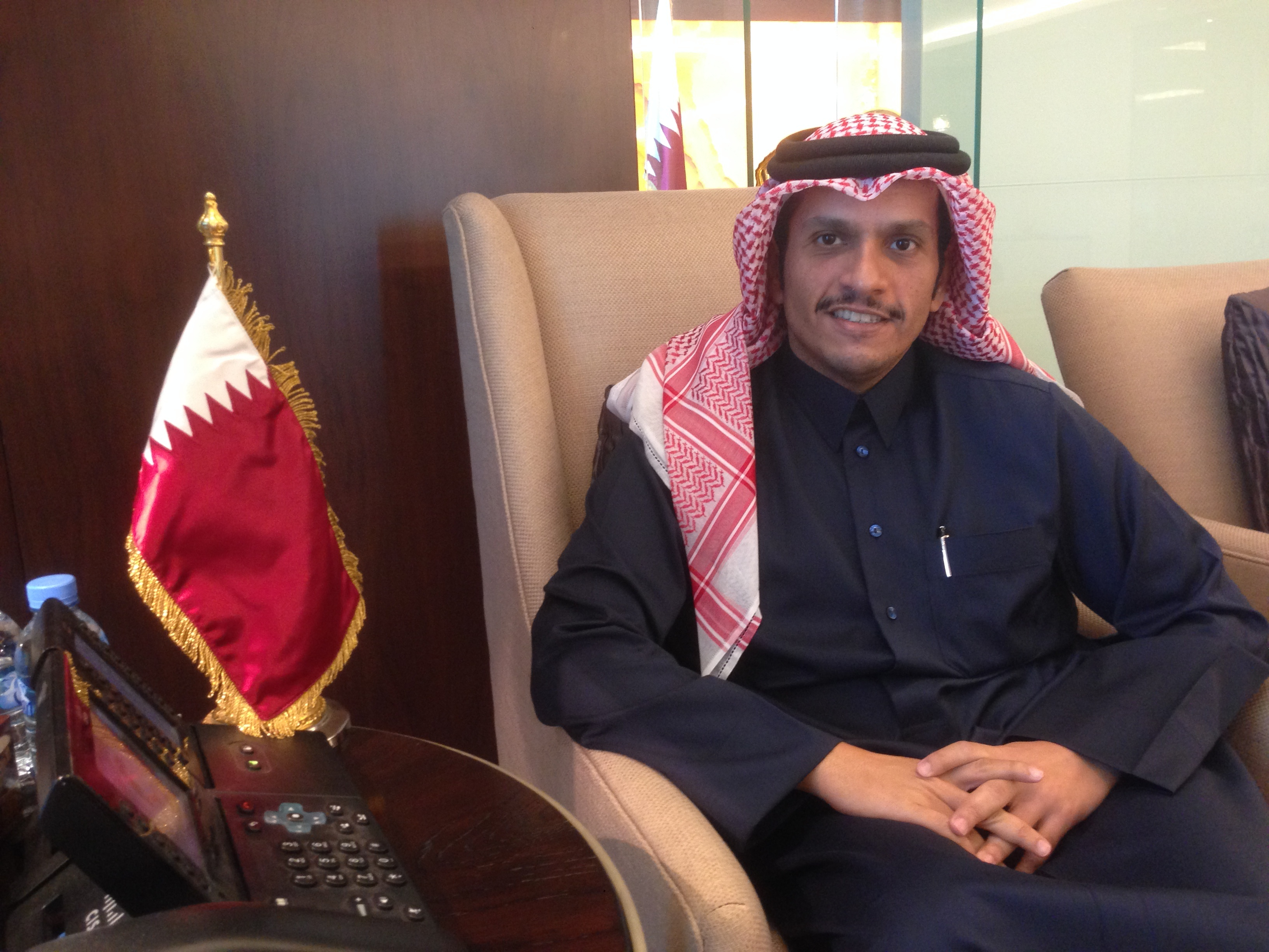 """We are open to discussion"""" : exclusive interview with His Excellency the Qatari Foreign Minister Sheikh Mohammed bin Abdulrahman Jassim Al-Thani by Michel Taube - Opinion Internationale"""