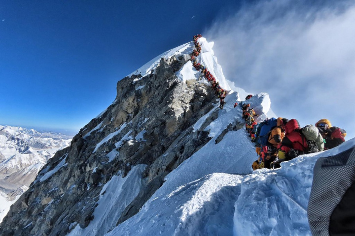 Embouteillages au sommet de l'Everest