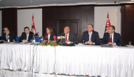 Conférence de presse conjointe du 19 janvier 2012 à Tunis PDP, Afek Tounes, PR, PP, Indépendants. DR