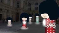 Fête des lumières, Lyon, décembre, art contemporain, jardins merveilleux, Le bal des Luminéoles, Christophe Martine, Magic Cube, Gilbert Moity, kokeshi, Annelore Parot, créateurs, sarabande des animaux magnifiques