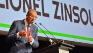 Lionel Zinsou lors de son meeting politique à la Mutualité le 18 février 2016 - Crédit photo : Stéphanie Petit