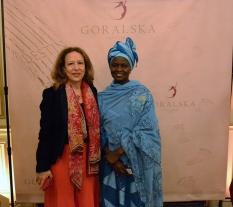 Corinne Evens et Fatimata Mbaye